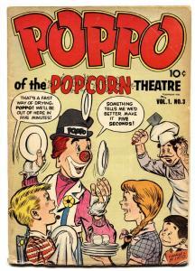 POPPO OF THE POPCORN THEATER #3 1955-ESOTERIC CLOWN COMIC VG