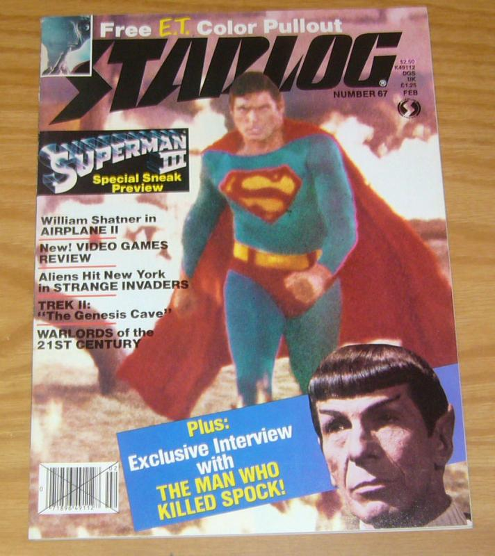 Starlog #67 VF/NM superman iii - e.t. the extraterrestrial poster - star trek