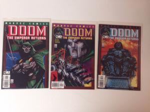 Doom the Emperor Returns 1-3 (Marvel 2002) Full Set Near Mint Lot Complete