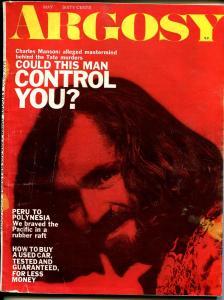 Argosy 5/1970-Charles Manson-Sharon Tate-pulp thrills-VG/FN