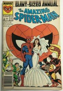 AMAZING SPIDER-MAN ANNUAL#21 VG/F 1987 NEWSTAND EDITION MARVEL COMICS