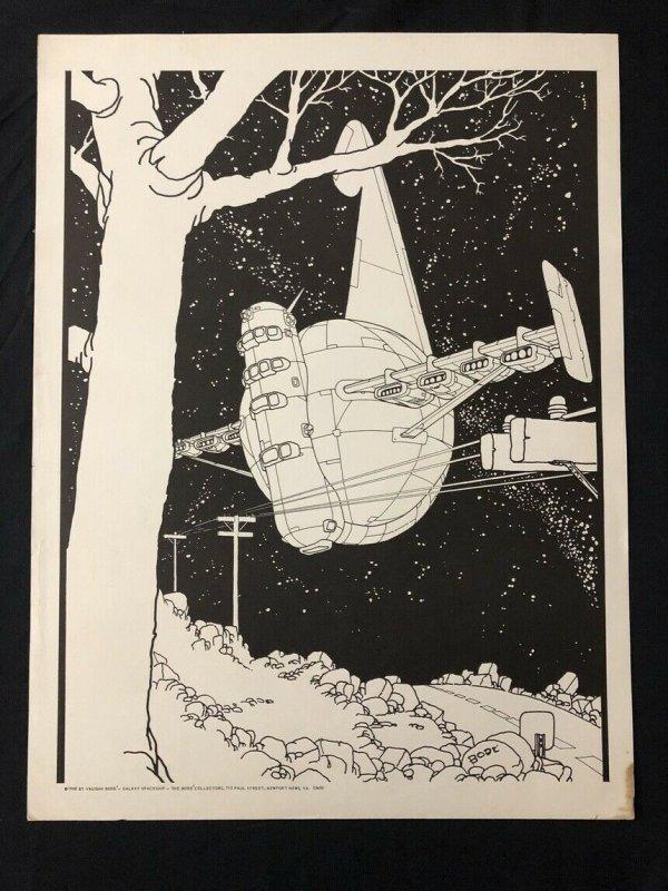 Galaxy Spaceship By Vaughn Bode  23x17.5 Poster underground comix