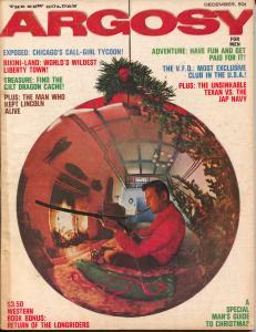 Argosy 12/1963-Popular-George Gross art-mystery-crime-Steeger-pulp thrills-VG
