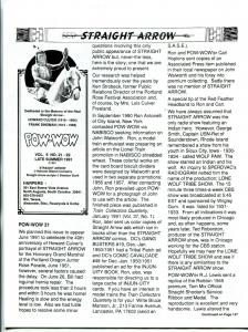Straight Arrow Pow-Wow Vol. 5 #21 & 22 1991- Western fanzine newsletter