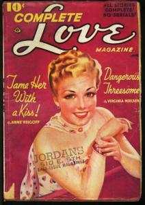 COMPLETE LOVE 1939 JUN-ROMANCE PULP-GREAT COVER VG