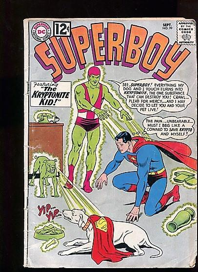 SUPERBOY #99 (1962) 4.5 (VG+) OW/W PAGES COOL EARLY 60's DC RARE