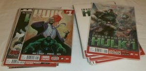 Indestructible Hulk #1,3-5,7-20; Hulk V3 #1-16 + Annuals Waid, comics lot of 37