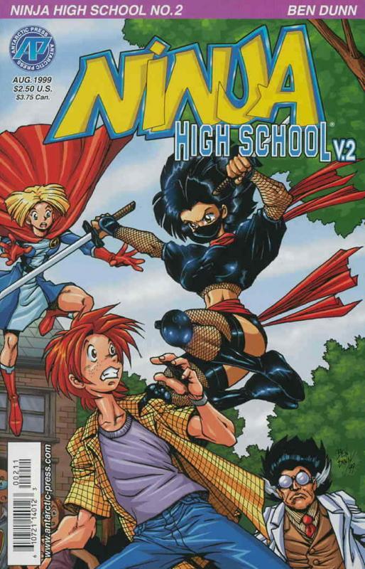 Ninja High School Version 2 #2 VF; Antarctic | save on shipping - details inside