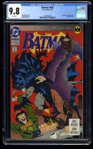 Batman #492 CGC NM/M 9.8 White Pages Knightfall Part 1!