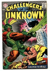 CHALLENGERS OF THE UNKNOWN #56 1967-DRUG USE-LSD-wild issue