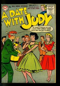 Date with Judy #47 1955- Dance cover- DC  Humor- VG