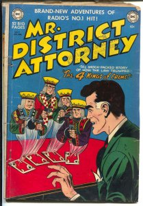 Mr. District Attorney #19 1951-DC-4 Kings Of Crime-Rogues Gallery -cards-