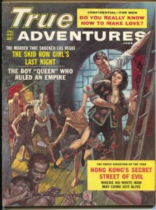 True Adventures 6/1962-New-Raphael DeSoto pulp style cover-cheesecake-scandal...
