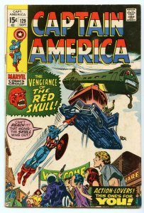 Captain America 129 Sep 1970 VG (4.0)