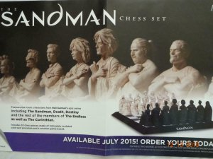 SANDMAN CHESS SET Promo Poster, 11 x 17, 2014, DC,  Unused more in our store 334