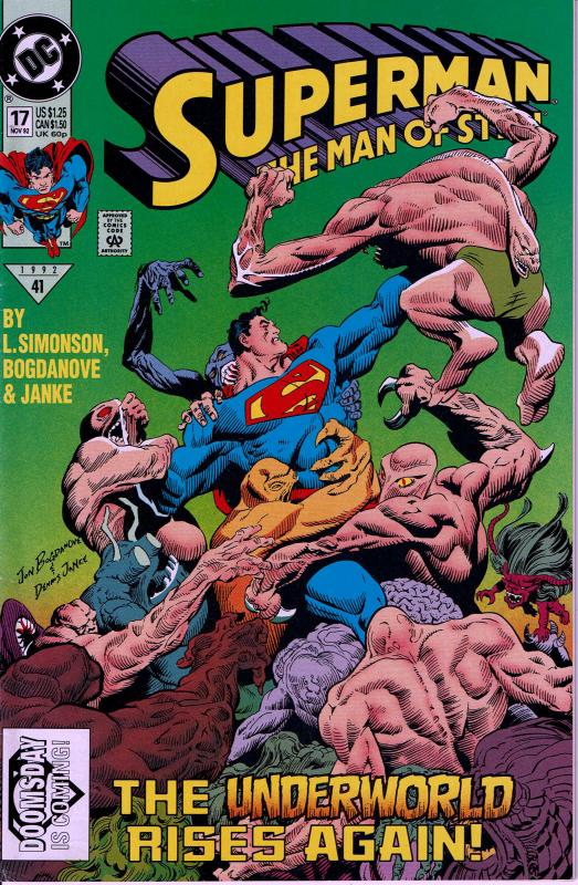 Superman Man of Steel #17 - 1st Doomsday - 9.0 or better