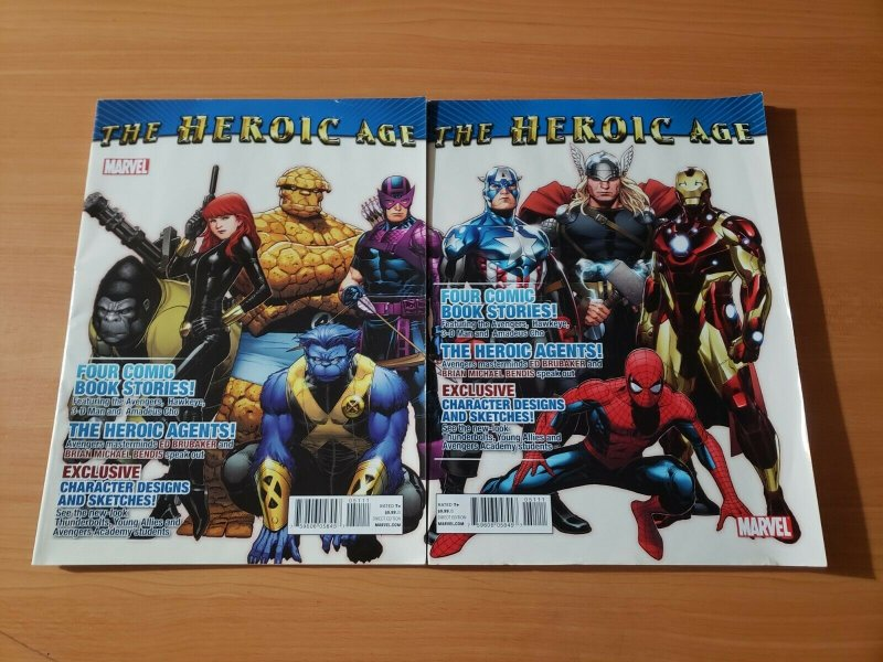 The Heroic Age #1 Both Connecting Covers A & B ~ VF NEAR MINT NM ~ AVENGERS 2010