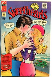Sweethearts #127 1972-Charlton-spicy rear view cover-Partridge family-romance-FN