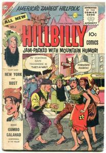 Hillbilly Comics #2 1955- Rare Charlton series- Mountain Humor G/VG