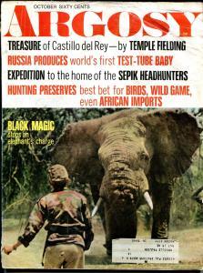 Argosy 10/1969-head hunters-black magic-test tube baby-pulp thrills-FR/G