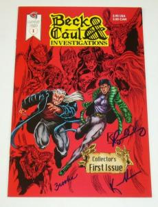 Beck & Caul Investigations #1 signed by Reginald Chaney + Paul + Brooke Kowalski