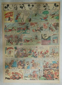 Mickey Mouse Sunday Page by Walt Disney from 4/8/1945 Tabloid Page Size