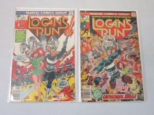 Logan's Run #1 and #2 4.0 VG (1977)