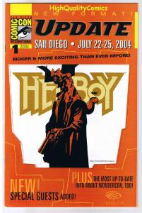 SDCC UPDATE #1 for 2004,  NM, Mike Mignola, Hellboy, San Diego Comic Convention