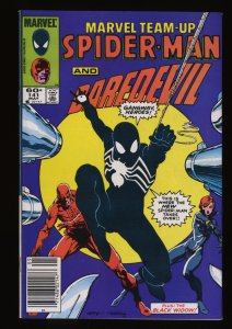 Marvel Team-up #141 VF+ 8.5 1st Black Costume! Newsstand Variant!