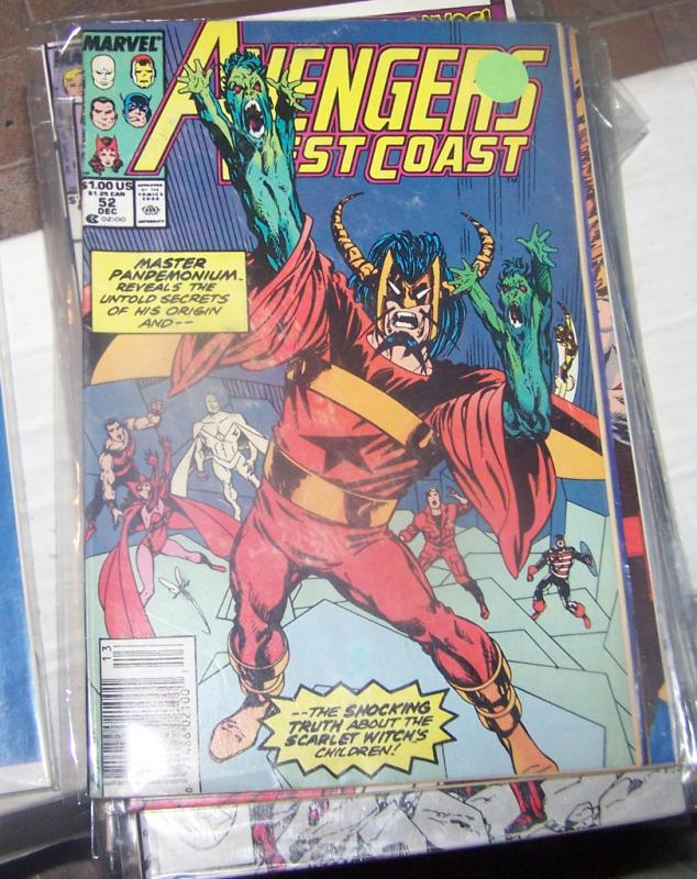 west coast avengers  # 52 DEC 1989 MASTER PANDEMONIUM HUMAN TORCH VISION