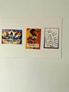 Witchblade & Battle of the Planets Signed/Sketch & Autographed Trading Cards.