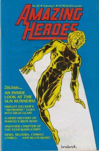 Amazing Heroes #40 VF; Fantagraphics | save on shipping - details inside