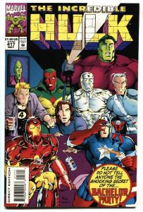 Incredible Hulk #417-Infamous risque Bachelor Party issue! NM-