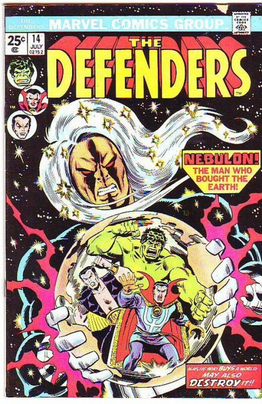 Defenders, The #14 (Jul-74) VF- High-Grade Hulk, Dr. Strange, Namor, Valkyrie