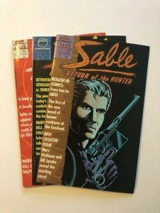 SET of 3- First Comics SABLE-Return of the Hunter #1-3 VERY FINE (A79)