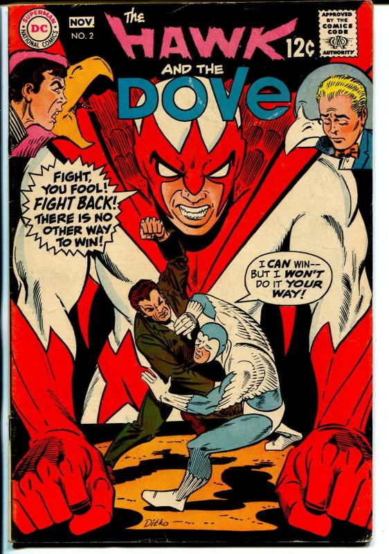 Hawk and The Dove #2 1968-DC-Steve Ditko art-VG/FN