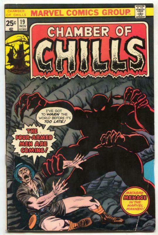 Chamber of Chills #19 1975- Marvel Horror comic book VG