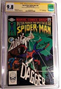 SPECTACULAR SPIDER-MAN 64 CGC 9.8 SS ED HANNIGAN & AL MILGROM 1st Cloak & Dagger