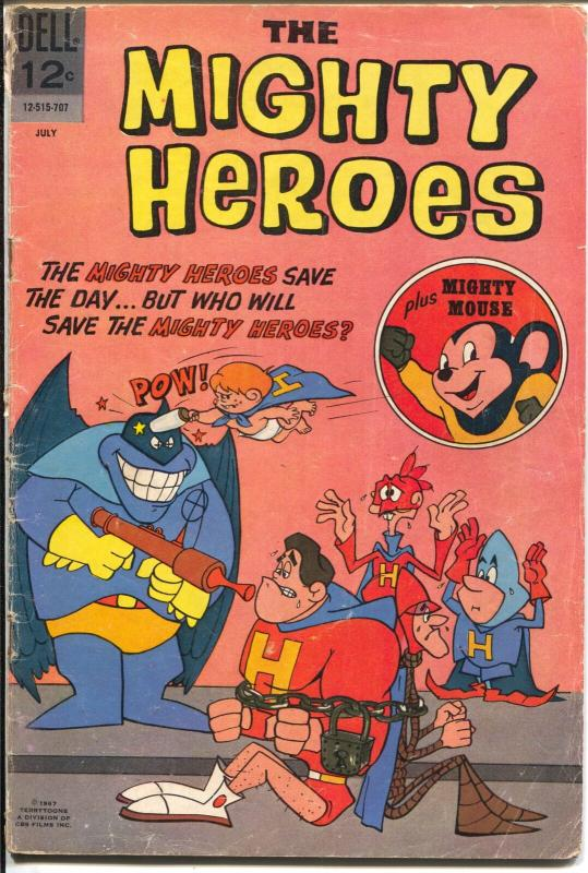 Mighty Heroes #4 1967-Dell-Mighty Mouse appears-G