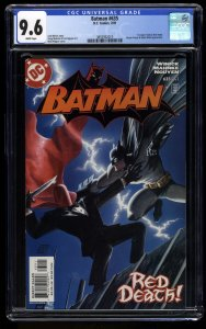 Batman #635 CGC NM+ 9.6 White Pages 1st Jason Todd as the Red Hood!