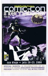 SDCC UPDATE #1 for 2000, NM, Batman,  San Diego Comic Convention
