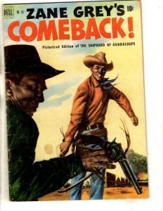 Four Color # 357 FN- Dell Golden Age Comic Book Zane Grey Comeback JL18