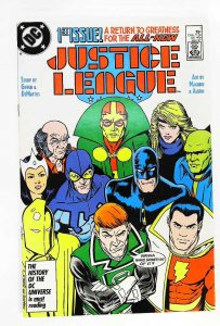 Justice League (1987 series) #1, NM- (Actual scan)