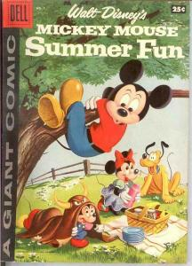 MICKEY MOUSE SUMMER FUN 1 VG-F   1958 DELL GIANT COMICS BOOK