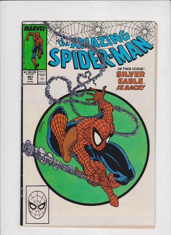 AMAZING SPIDERMAN #301-1'st PRINT