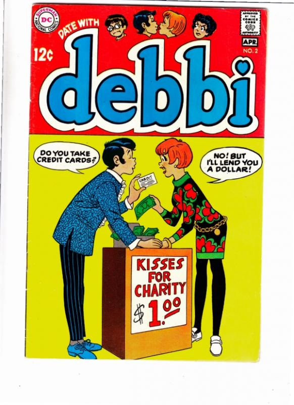 Date with Debbi #2 (Apr-69) FN/VF+ High-Grade Debbi