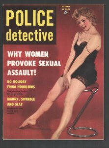 Police Detective 12/1959-Pin-up girl lingerie cover-Scandals-violence-exploit...