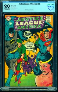 Justice League Of America #66 CBCS VF/NM 9.0 Off White to White DC Comics