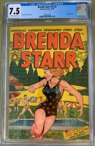 Brenda Starr v2 #5 (1948) CGC 7.5 -- O/w to white pages; Lingerie panels; Kamen