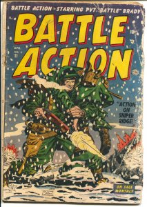 Battle Action #11 1953-Atlas-Syd Shores-Korean War stories-Battle Brady-G-